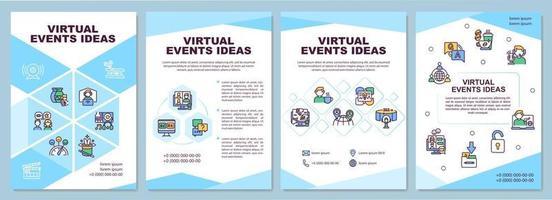 broschyrmall för virtuella händelser vektor