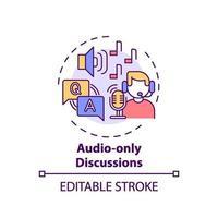 ljud-bara diskussioner koncept ikon vektor
