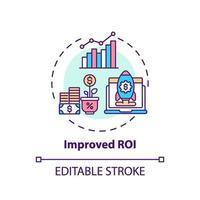 förbättrad roi-konceptikon vektor