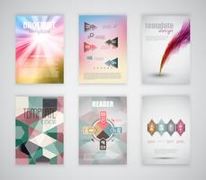 Broschüren- / Flyer-Vorlagen vektor