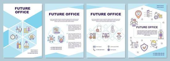 framtida kontorsbroschyrmall vektor
