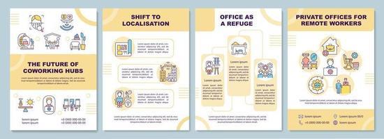 coworking hubs framtida broschyrmall vektor