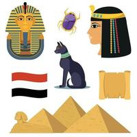 Egypten ikoner set