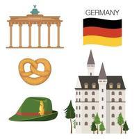 deutschland ikonen gesetzt vektor