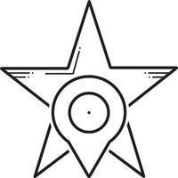 linje ikon för stjärnmärkta