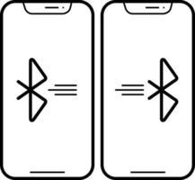 linje-ikon för Bluetooth-anslutning
