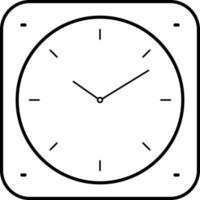 linje ikon för klocka app
