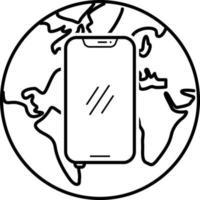 linje ikon för internet app