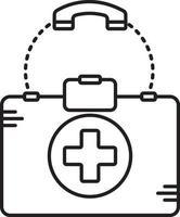 linje ikon för medicinsk hjälp