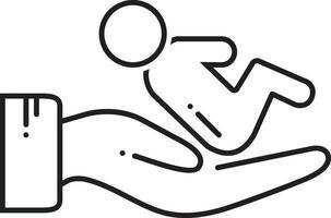 linje-ikon för postnatal