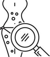 Zeilensymbol für Symptomprüfung vektor