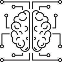 linje ikon för neurologi