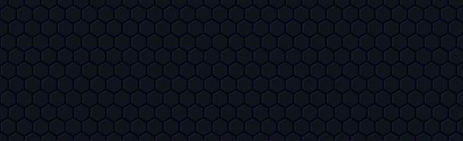 mörka hexagoner på en svart bakgrund - vektor