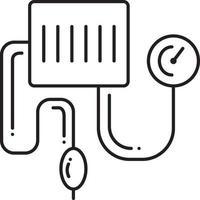 Liniensymbol für Blutdruck-Kit vektor