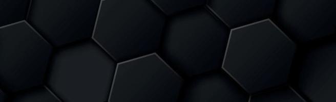 abstrakta hexagoner svart på en svart och grå bakgrund