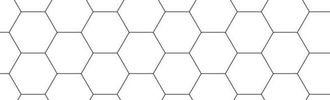 svarta sexhörningar på en vit bakgrund - vektor
