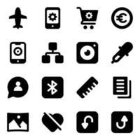 affärs- och finans ikonuppsättning