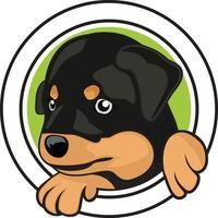 design av hundhuvudkaraktärsillustration vektor