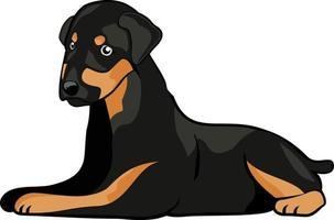 sittande hund karaktär illustration vektor
