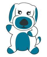 söt hund maskot karaktär illustration vektor