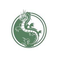 maskot karaktär kinesisk drake illustration vektor