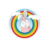 tecknad karaktär rolig kaninillustration vektor