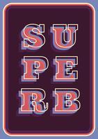 Retro Typografie vektor