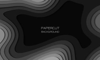 abstrakt gråton pappersskuren 3d lager överlappar konst bakgrundsstruktur vektorillustration. vektor