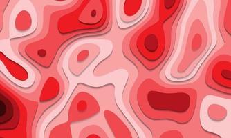 abstrakta röda toner pappersskurna lager överlappar konst bakgrundsstruktur vektorillustration. vektor
