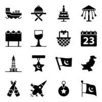 pakistanska kultur- och evenemangselement vektor