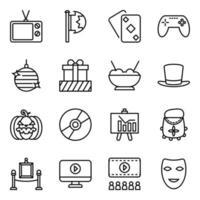 festivaler och evenemang element ikonuppsättning vektor