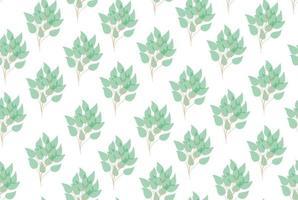 trädgren lämnar sömlösa mönster. vektor illustration. lämnar sömlösa mönster för inslagning, textil, tapeter, papper. eukalyptusträd naturliga grenar med gröna blad sömlösa mönster. vektor dekorativ söt elegant grönska illustration