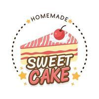 Design für süße Bäckerei und Brotetiketten für Süßwarenladen, Kuchen, Café vektor