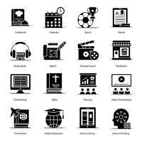 Ikonen-Set für Bildung und bildende Kunst vektor