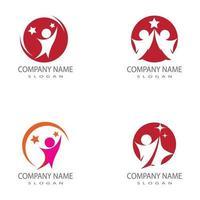 Menschen Symbol Arbeitsgruppe Vektor-Illustration Design-Set vektor