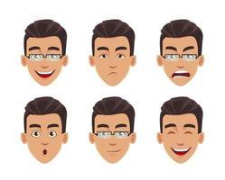 Gesichtsausdrücke des Geschäftsmannes vektor