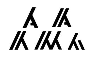 initial k, ka elegant logotyp mall vektorillustration