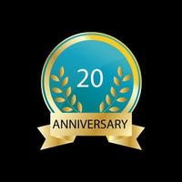 20 Jahre Jubiläumsfeier Vektor Vorlage Design Illustration