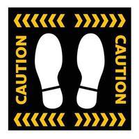 Fußabdruck soziale Distanz halten Abstand Zeichen Coronavirus Vektor-Illustration halten vektor