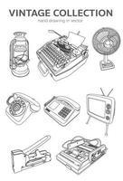 Vintage-Sammlung in Vektor 10