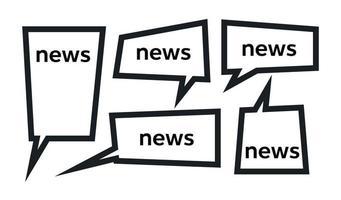 Nachrichtenwort und Sprechblase vektor