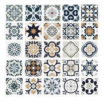 vintage kakel portugisiska mönster antik sömlös design i vektorillustration vektor