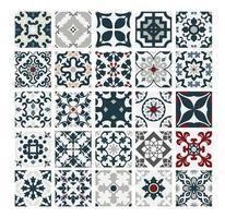 Vintage Fliesen portugiesische Muster antike nahtlose Design in Vektor-Illustration vektor