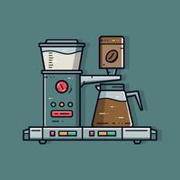 Kaffemaskinen vektor
