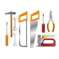 Realistische Illustrations-Werkstatt-Werkzeuge vektor
