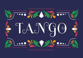 Tango im Fileteado-Vektor vektor