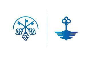 nyckel logotyp mall design vektor