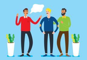 Gruppfolk som pratar och skrattar