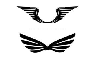 Flügel Logo Design Vorlage Design einfach vektor