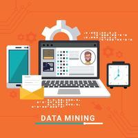 data mining illustration vektor